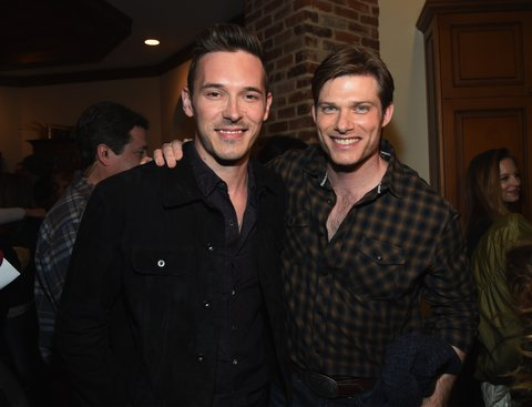 NASHVILLE, TN - MARCH 16: Nashville cast members Sam Palladio and Chris Carmack attend NASHVILLE 100th Episode Celebration on March 16, 2017 in Nashville, Tennessee. (Photo by Rick Diamond/Getty Images for CMT)