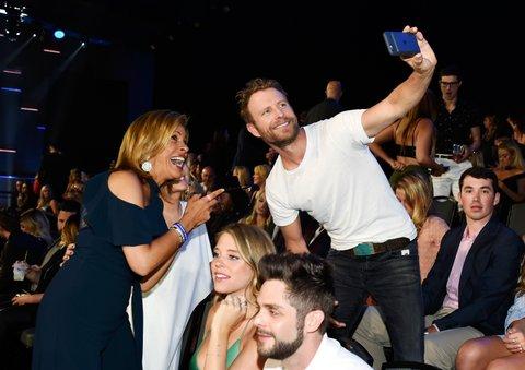 NASHVILLE, TN - JUNE 07:  Hoda Kotb and Dierks Bentley attend the 2017 CMT Music Awards at the Music City Center on June 7, 2017 in Nashville, Tennessee.  (Photo by Kevin Mazur/WireImage)