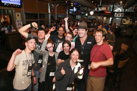 NASHVILLE, TN - JUNE 25:  Singer-songwriter Jerrod Niemann enjoys karaoke Night with ACM Lifting Lives music campers at Winner's Bar on June 25, 2017 in Nashville, Tennessee.  (Photo by Terry Wyatt/Getty Images for Academy of Country Music)