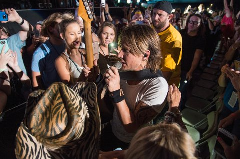 NASHVILLE, TN - JUNE 11:  (EDITORIAL USE ONLY) Keith Urban performs during the 2017 CMA Music Festival on June 11, 2017 in Nashville, Tennessee.  (Photo by Erika Goldring/WireImage)