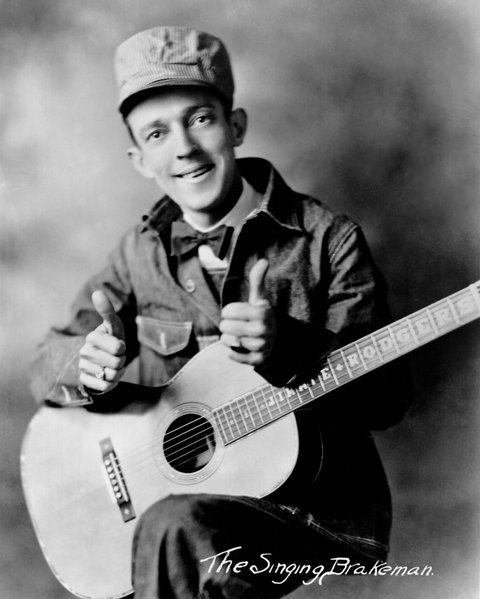 CIRCA 1930:  The father of country music Jimmie Rodgers poses for a portrait as the Singing Brakeman circa 1930 . (Photo by BMI/Michael Ochs Archives/GettyImages)