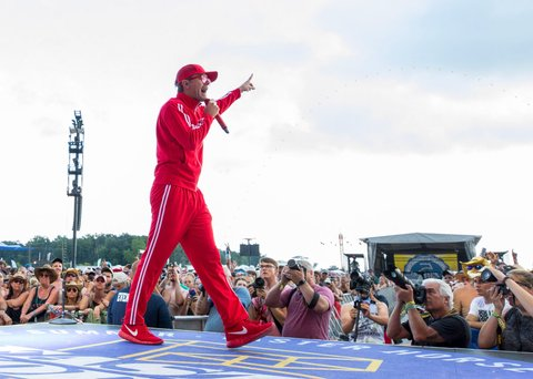 BROOKLYN, MI - JULY 23:  Bobby Bones and the Raging Idiots perform during day 3 of Faster Horses Festival at Michigan International Speedway on July 23, 2017 in Brooklyn, Michigan.  (Photo by Scott Legato/Getty Images)