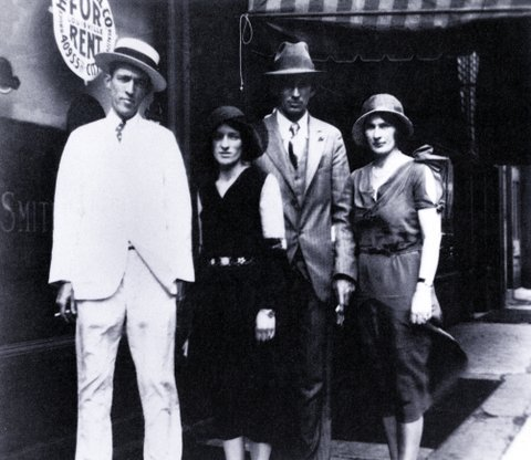 UNITED STATES - JANUARY 01:  (AUSTRALIA OUT) USA  Photo of Jimmie RODGERS (country) and CARTER FAMILY, w/Jimmie Rodgers (far left) Maybelle, Alvin and Sara  (Photo by GAB Archive/Redferns)