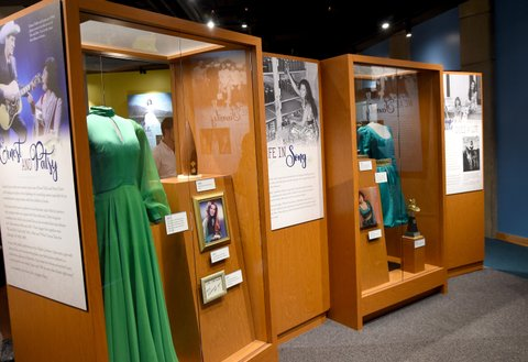 NASHVILLE, TN - AUGUST 22:  A view of the Loretta Lynn: Blue Kentucky Girl exhibit at the Country Music Hall of Fame and Museum on August 22, 2017 in Nashville, Tennessee.  (Photo by Rick Diamond/Getty Images for Country Music Hall Of Fame & Museum)