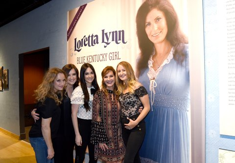 NASHVILLE, TN - AUGUST 22:  Peggy Lynn, Brandy Clark, Kacey Musgraves, Patsy Lynn Russell, and Margo Price attend the new exhibition Loretta Lynn: Blue Kentucky Girl at Country Music Hall of Fame and Museum on August 22, 2017 in Nashville, Tennessee.  (Photo by Rick Diamond/Getty Images for Country Music Hall Of Fame & Museum)