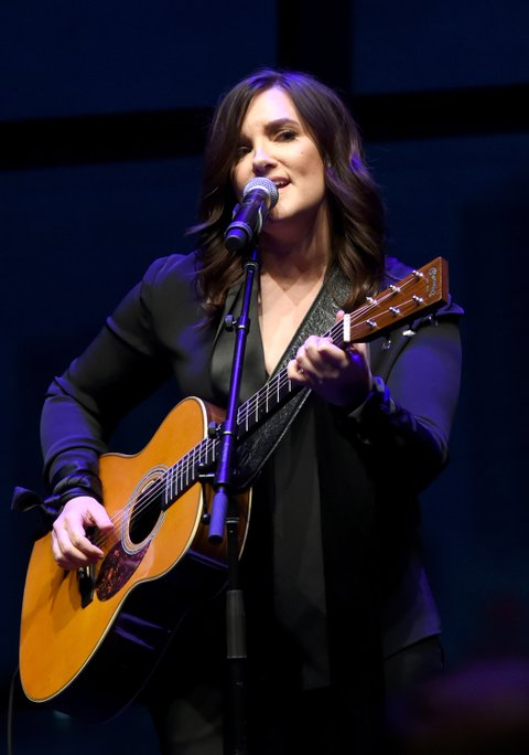 NASHVILLE, TN - AUGUST 22:  Brandy Clark performs Coal Miner's Daughter onstage during the exhibition opening of Loretta Lynn: Blue Kentucky Girl at Country Music Hall of Fame and Museum on August 22, 2017 in Nashville, Tennessee.  (Photo by Rick Diamond/Getty Images for Country Music Hall Of Fame & Museum)