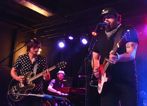 NASHVILLE, TN - JULY 31:  Singer/Songwriter Charlie Worsham is joined by Singer/Songwriter Randy Houser onstage during Every Damn Monday With Charlie Worsham benifiting Follow Your Heart Arts Program at The Basement East on July 31, 2017 in Nashville, Tennessee.  (Photo by Rick Diamond/Getty Images)