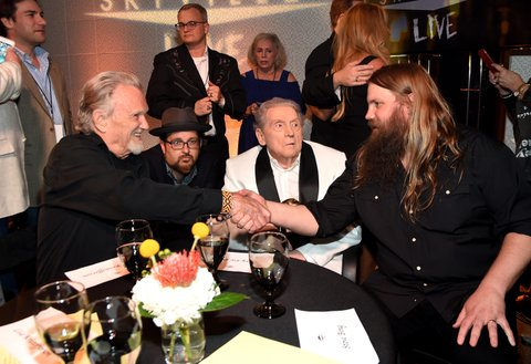 NASHVILLE, TN - AUGUST 24: Kris Kristofferson, Jerry Lee Lewis, and Chris Stapleton attend Skyville Live Presents a Tribute to Jerry Lee Lewis on August 24, 2017 in Nashville, Tennessee.  (Photo by Rick Diamond/Getty Images for Skyville)