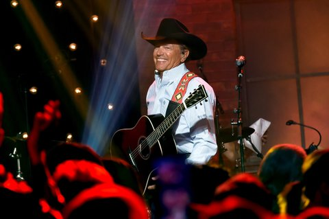 NASHVILLE, TN - AUGUST 24:  George Strait performs onstage during Skyville Live Presents a Tribute to Jerry Lee Lewis on August 24, 2017 in Nashville, Tennessee.  (Photo by Rick Diamond/Getty Images for Skyville)