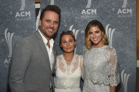 NASHVILLE, TN - AUGUST 23: Charles Esten, Clare Bowen, and Cassadee Pope attend the 11th Annual ACM Honors at the Ryman Auditorium on August 23, 2017 in Nashville, Tennessee.  (Photo by Rick Diamond/Getty Images for ACM)