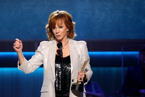 NASHVILLE, TN - AUGUST 23:  Reba McEntire accepts the Mae Boren Axton Award onstage during the 11th Annual ACM Honors at the Ryman Auditorium on August 23, 2017 in Nashville, Tennessee.  (Photo by Terry Wyatt/Getty Images for ACM)