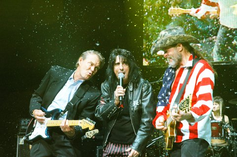 Glen Campbell, Alice Cooper and Ted Nugent (Photo by Chris Walter/WireImage)
