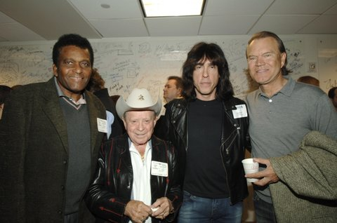 Charley Pride, Jimmy Dickens, Marky Ramone and Glen Campbell (Photo by L. Busacca/WireImage for Sirius Satellite Radio)