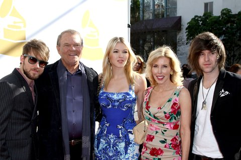 LOS ANGELES, CA - FEBRUARY 11:  Glen Campbell and family attend Recording Academy's Annual GRAMMY Special Merit Awards Ceremony at The Wilshire Ebell Theatre on February 11, 2012 in Los Angeles, California.  (Photo by Jonathan Leibson/FilmMagic)