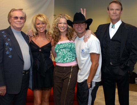 George Jones, Deana Carter, LeAnn Rimes, Kenny Chesney, and Glen Campbell (Photo by R. Diamond/WireImage)