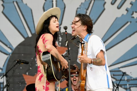 FRANKLIN, TN - SEPTEMBER 23:  Nikki Lane and Jonathan Tyler perform during the Pilgrimage Music & Cultural Festival 2017 on September 23, 2017 in Franklin, Tennessee.  (Photo by Erika Goldring/Getty Images for Pilgrimage Music & Cultural Festival)