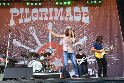 FRANKLIN, TN - SEPTEMBER 24:  David Shaw of The Revivalists  performs at Pilgrimage Music & Cultural Festival on September 24, 2017 in Franklin, Tennessee.  (Photo by Erika Goldring/Getty Images for Pilgrimage Music & Cultural Festival)