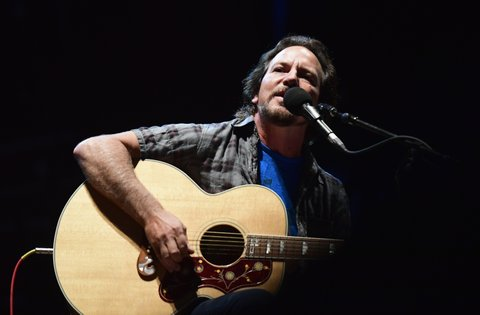 FRANKLIN, TN - SEPTEMBER 24:  Eddie Vedder performs during Pilgrimage Music & Cultural Festival on September 24, 2017 in Franklin, Tennessee.  (Photo by Mickey Bernal/Getty Images for Pilgrimage Music & Cultural Festival)