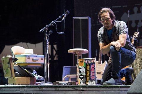 FRANKLIN, TN - SEPTEMBER 24:  Eddie Vedder performs during Pilgrimage Music & Cultural Festival on September 24, 2017 in Franklin, Tennessee.  (Photo by Erika Goldring/Getty Images for Pilgrimage Music & Cultural Festival)