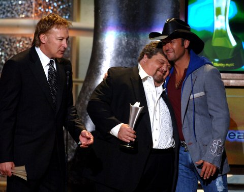 Tim Nichols, Craig Wiseman and Tim McGraw during 40th Annual Academy of Country Music Awards - Show at Mandalay Bay Resort and Casino Events Center in Las Vegas, Nevada, United States. (Photo by M. Caulfield/WireImage)