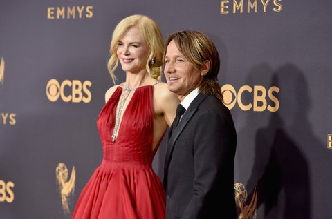 LOS ANGELES, CA - SEPTEMBER 17:  Musician Keith Urban (R) and actor Nicole Kidman attend the 69th Annual Primetime Emmy Awards at Microsoft Theater on September 17, 2017 in Los Angeles, California.  (Photo by John Shearer/WireImage)