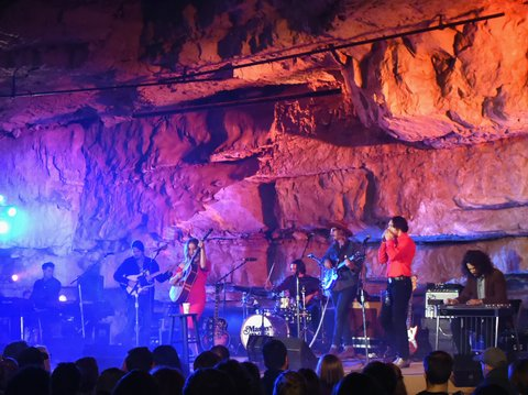 MCMINNVILLE, TN - SEPTEMBER 29:  Singer/Songwriter Margo Price performs during Tennessee Tourism & Third Man Records 333 Feet Underground at Cumberland Caverns on September 29, 2017 in McMinnville, Tennessee.  (Photo by Rick Diamond/Getty Images for Tennessee Tourism)