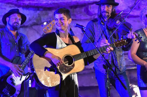 MCMINNVILLE, TN - SEPTEMBER 29:  Singer/Songwriter Lillie Mae performs during Tennessee Tourism & Third Man Records 333 Feet Underground at Cumberland Caverns on September 29, 2017 in McMinnville, Tennessee.  (Photo by Rick Diamond/Getty Images for Tennessee Tourism)