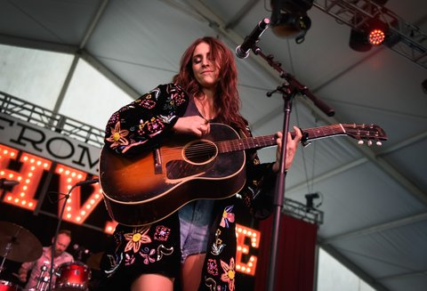 LAS VEGAS, NV - SEPTEMBER 30:  Recording artist Kelleigh Bannen performs during the Route 91 Harvest country music festival at the Las Vegas Village on September 30, 2017 in Las Vegas, Nevada.  (Photo by David Becker/Getty Images)