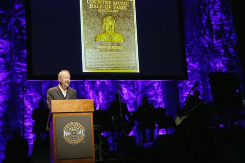 NASHVILLE, TN - OCTOBER 22:  Songwriter Don Schlitz speaks onstage at the Country Music Hall of Fame and Museum Medallion Ceremony to celebrate 2017 hall of fame inductees Alan Jackson, Jerry Reed And Don Schlitz at Country Music Hall of Fame and Museum on October 22, 2017 in Nashville, Tennessee.  (Photo by Terry Wyatt/Getty Images for Country Music Hall Of Fame & Museum)