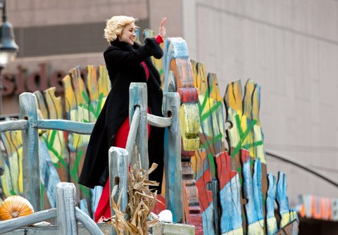 NEW YORK, NY - NOVEMBER 28:  Singer Kellie Pickler attends the 87th Annual Macy's Thanksgiving Day Parade on November 28, 2013 in New York City.  (Photo by Noam Galai/Getty Images)