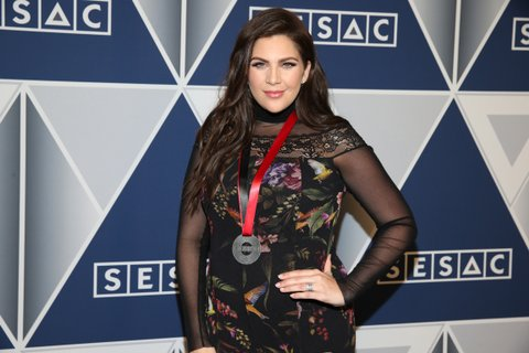 NASHVILLE, TN - NOVEMBER 05:  Hillary Scott of Lady Antebellum arrives at the 2017 SESAC Nashville Music Awards at Country Music Hall of Fame and Museum on November 5, 2017 in Nashville, Tennessee.  (Photo by Terry Wyatt/WireImage)