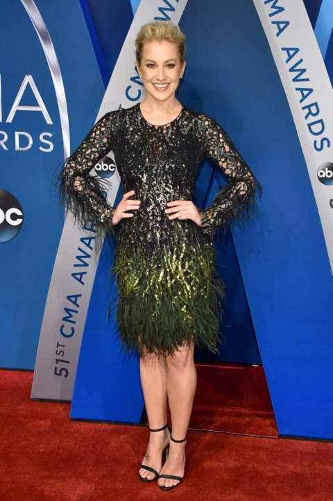 NASHVILLE, TN - NOVEMBER 08:  Musical artist Kellie Pickler attends the 51st annual CMA Awards at the Bridgestone Arena on November 8, 2017 in Nashville, Tennessee.  (Photo by John Shearer/WireImage)