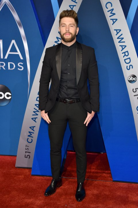NASHVILLE, TN - NOVEMBER 08:  Singer-songwriter Chris Lane attends the 51st annual CMA Awards at the Bridgestone Arena on November 8, 2017 in Nashville, Tennessee.  (Photo by John Shearer/WireImage)