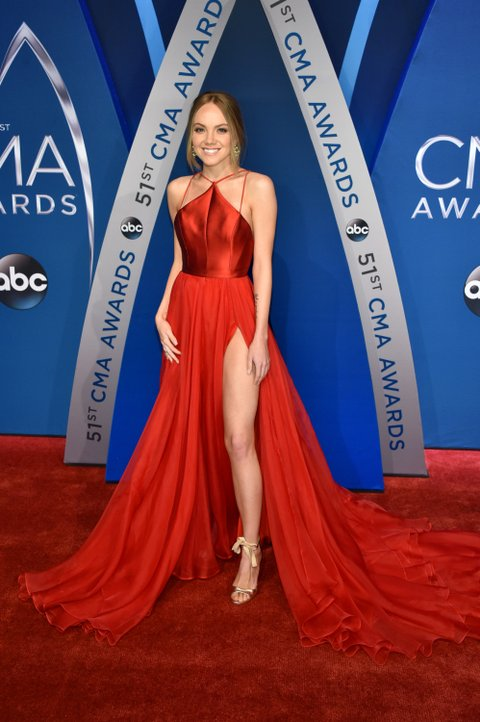 NASHVILLE, TN - NOVEMBER 08:  Singer-songwriter Danielle Bradbery attends the 51st annual CMA Awards at the Bridgestone Arena on November 8, 2017 in Nashville, Tennessee.  (Photo by John Shearer/WireImage)