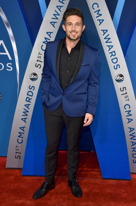 NASHVILLE, TN - NOVEMBER 08:  Singer-songwriter Michael Ray attends the 51st annual CMA Awards at the Bridgestone Arena on November 8, 2017 in Nashville, Tennessee.  (Photo by John Shearer/WireImage)