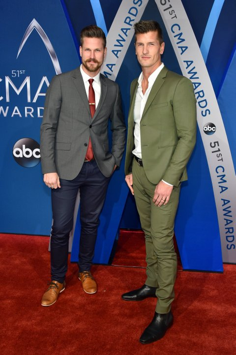 NASHVILLE, TN - NOVEMBER 08:  Curtis Rempel (L) and Brad Rempel of musical duo High Valley attend the 51st annual CMA Awards at the Bridgestone Arena on November 8, 2017 in Nashville, Tennessee.  (Photo by John Shearer/WireImage)