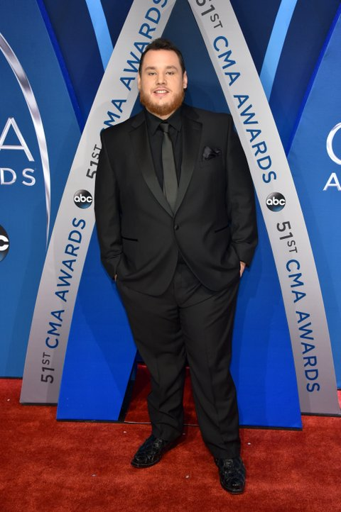 NASHVILLE, TN - NOVEMBER 08:  Singer-songwriter Luke Combs attends the 51st annual CMA Awards at the Bridgestone Arena on November 8, 2017 in Nashville, Tennessee.  (Photo by John Shearer/WireImage)