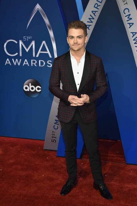 NASHVILLE, TN - NOVEMBER 08:  Singer-songwriter Hunter Hayes attends the 51st annual CMA Awards at the Bridgestone Arena on November 8, 2017 in Nashville, Tennessee.  (Photo by John Shearer/WireImage)