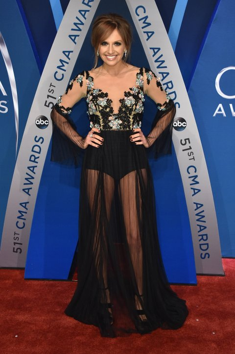 NASHVILLE, TN - NOVEMBER 08: Singer Carly Pearce attends the 51st annual CMA Awards at the Bridgestone Arena on November 8, 2017 in Nashville, Tennessee.  (Photo by John Shearer/WireImage)