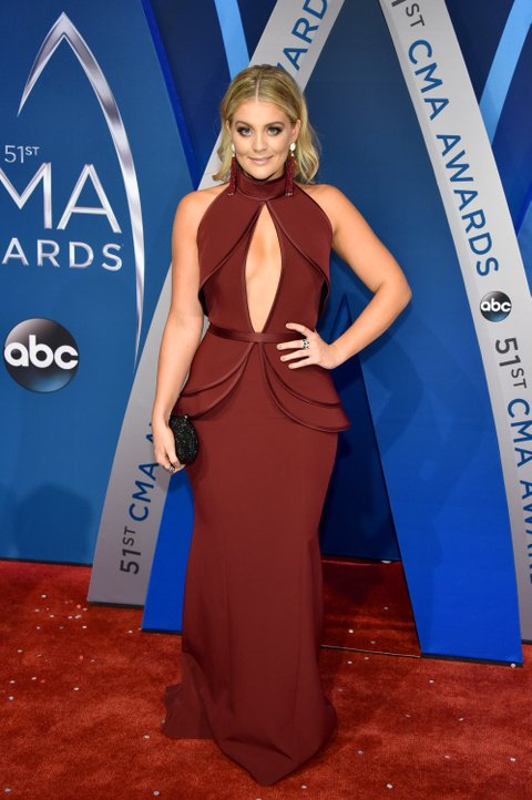 NASHVILLE, TN - NOVEMBER 08: Singer-songwriter Lauren Alaina attends the 51st annual CMA Awards at the Bridgestone Arena on November 8, 2017 in Nashville, Tennessee.  (Photo by John Shearer/WireImage)