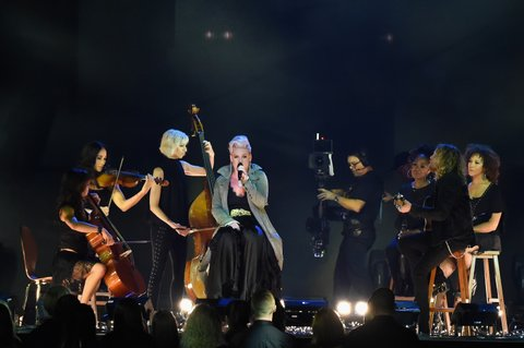 NASHVILLE, TN - NOVEMBER 08:  Pink performs onstage at the 51st annual CMA Awards at the Bridgestone Arena on November 8, 2017 in Nashville, Tennessee.  (Photo by Rick Diamond/Getty Images)
