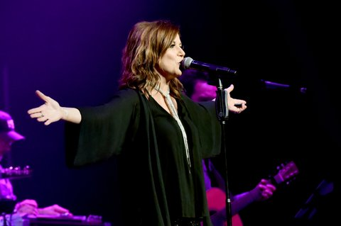 NASHVILLE, TN - NOVEMBER 12:  In this handout photo provided by The Country Rising Fund of The Community Foundation of Middle Tennessee, singer Martina McBride performs onstage for the Country Rising Benefit Concert at Bridgestone Arena on November 12, 2017 in Nashville, Tennessee.  (Photo by Rick Diamond/Country Rising/Getty Images)
