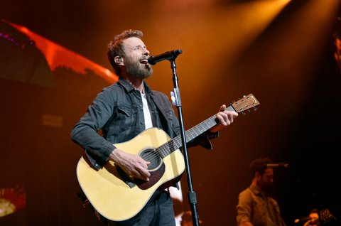NASHVILLE, TN - NOVEMBER 12:  In this handout photo provided by The Country Rising Fund of The Community Foundation of Middle Tennessee, singer Dierks Bentley performs onstage for the Country Rising Benefit Concert at Bridgestone Arena on November 12, 2017 in Nashville, Tennessee.  (Photo by John Shearer/Country Rising/Getty Images)