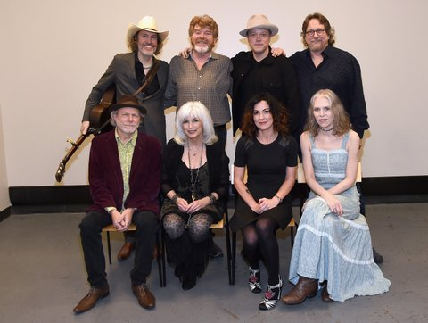 NASHVILLE, TN - DECEMBER 19:  David Rawlings, Mac McAnally, Jason Isbell, , Jerry Douglas, (bottom row L-R) Buddy Miller, Emmylou Harris, Amanda Shires, and Gillian Welch attend the Jason Isbell residency at the Country Music Hall of Fame and Muesuem on December 19, 2017 in Nashville, Tennessee.  (Photo by Rick Diamond/Getty Images for Country Music Hall Of Fame & Museum)