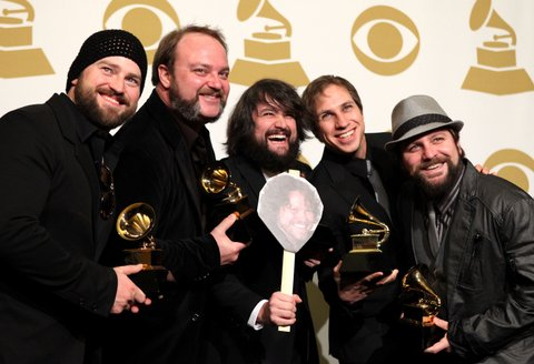 The Zac Brown Band poses in the press room at The 53rd Annual GRAMMY Awards held at Staples Center on February 13, 2011 in Los Angeles, California. (Photo by Michael Tran/FilmMagic)