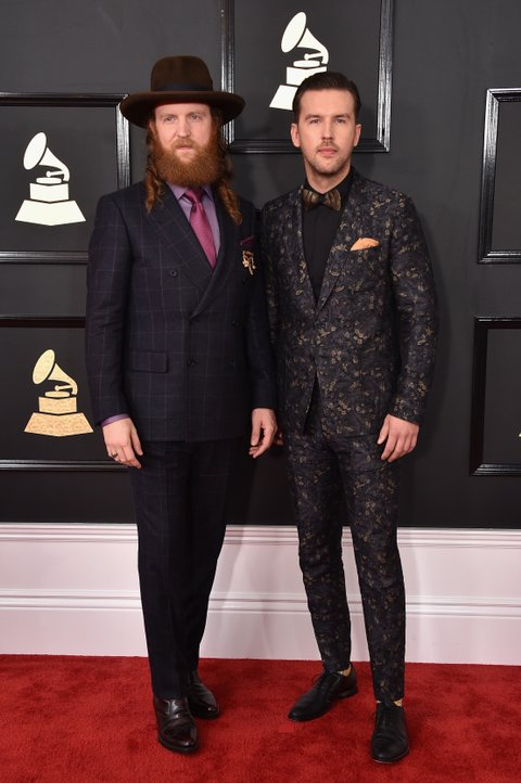 LOS ANGELES, CA - FEBRUARY 12:  Recording artists John Osborne (L) and T.J. Osborne of music group Brothers Osborne attend The 59th GRAMMY Awards at STAPLES Center on February 12, 2017 in Los Angeles, California.  (Photo by John Shearer/WireImage)