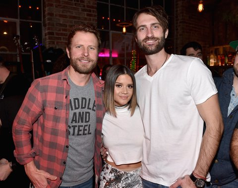 NASHVILLE, TN - JANUARY 14: Dierks Bentley, Maren Morris, and Ryan Hurd attend the Nashville Opening of Dierks Bentley's Whiskey Row on January 14, 2018 in Nashville, Tennesse  (Photo by John Shearer/Getty Images for Dierks Bentley's Whiskey Row Nashville)