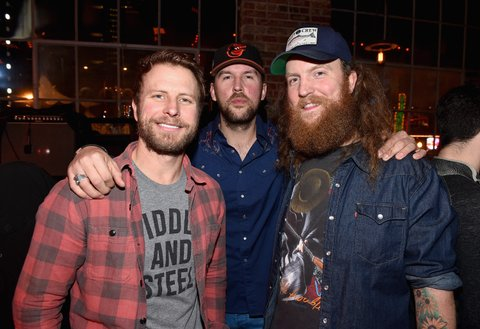 NASHVILLE, TN - JANUARY 14:  Dierks Bentley, T.J. Osborne, and John Osborne attend the Nashville Opening of Dierks Bentley's Whiskey Row on January 14, 2018 in Nashville, Tennesse  (Photo by John Shearer/Getty Images for Dierks Bentley's Whiskey Row Nashville)