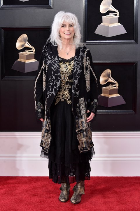 NEW YORK, NY - JANUARY 28:  Recording artist Emmylou Harris attends the 60th Annual GRAMMY Awards at Madison Square Garden on January 28, 2018 in New York City.  (Photo by Mike Coppola/FilmMagic)