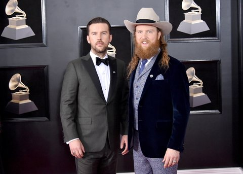 NEW YORK, NY - JANUARY 28:  Recording artist T.J. Osborne (L) and John Osborne attends the 60th Annual GRAMMY Awards at Madison Square Garden on January 28, 2018 in New York City.  (Photo by Mike Coppola/FilmMagic)